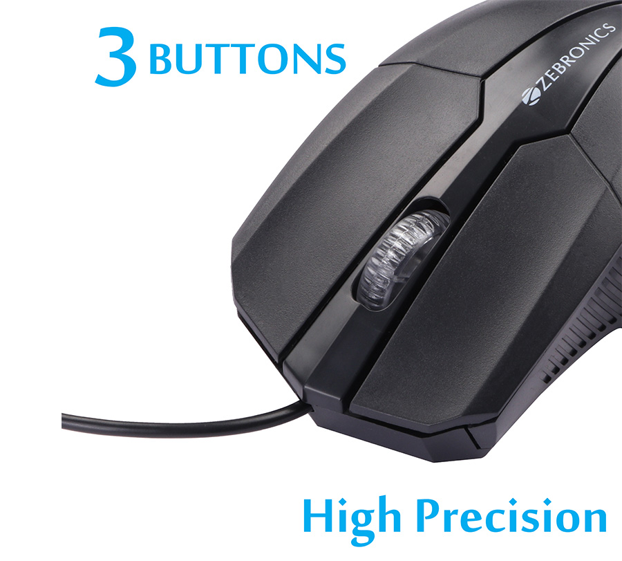 Zebronics Joy Wired Optical Mouse  (USB 3.0, USB 2.0)