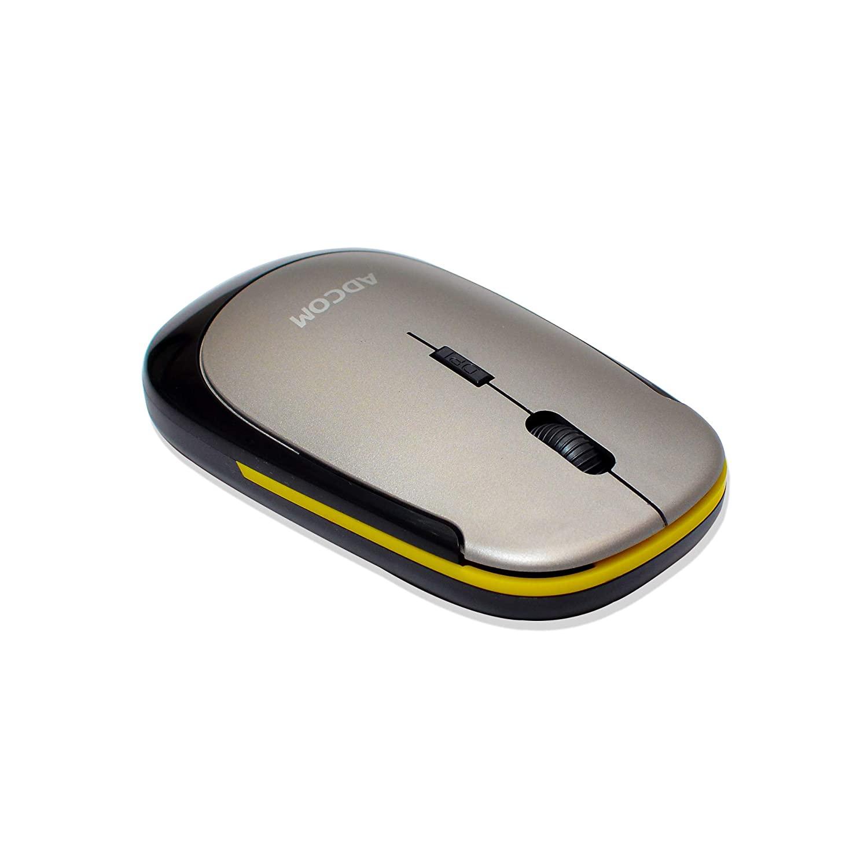 Adcom 4D Slim Wireless Optical Mouse with Nano Receiver