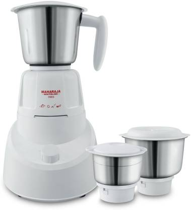 Maharaja Whiteline Neo (MX-147)(mx-199) 500 W Mixer Grinder  (White, 3 Jars)