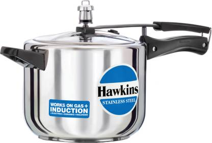Hawkins Stainless Steel 5 L Induction Bottom Pressure Cooker  (Stainless Steel)