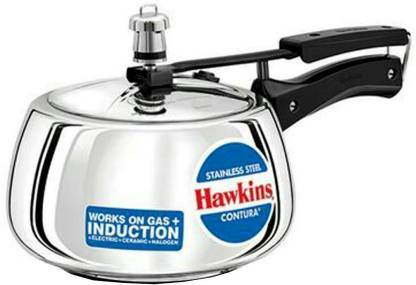 Hawkins Stainless Steel Contura 5 L Induction Bottom Pressure Cooker  (Stainless Steel)