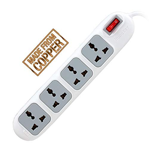 HuntKey Power Strip with 4 sockets with 2 M copper cable
